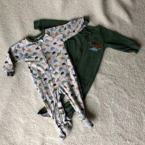 2️⃣ Carter's Dinosaur Footie Pajamas